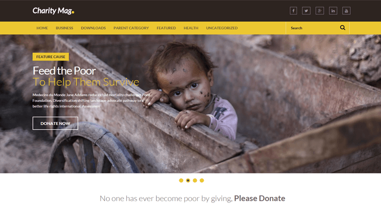 CharityMag Responsive Blogger Template