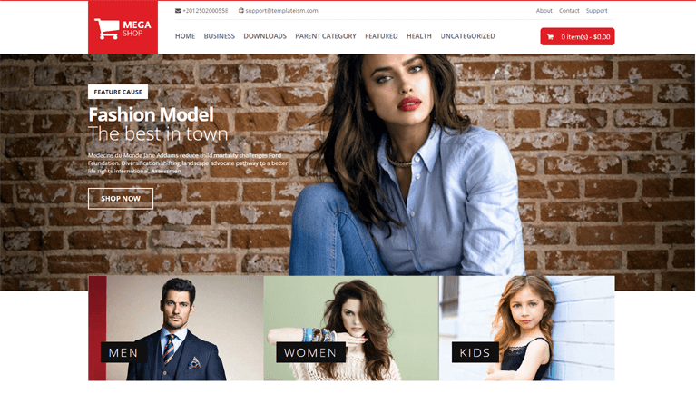 MegaShop eCommerce Responsive Blogger Template