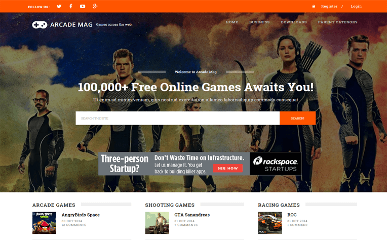 Arcade Mag Online Games Blogger Template