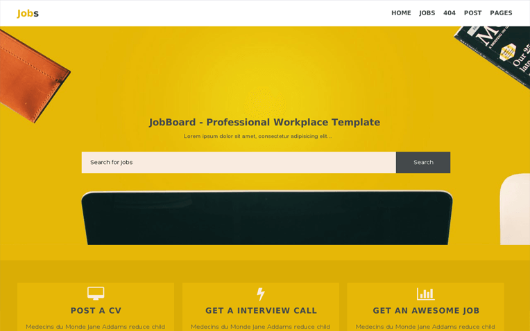 Jobs Business Blogger Template