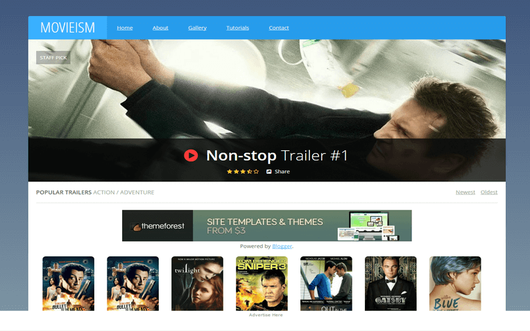 Movieism Responsive Blogger Template