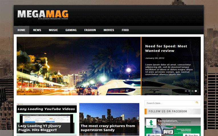 MegaMag Multipurpose Blogger Template
