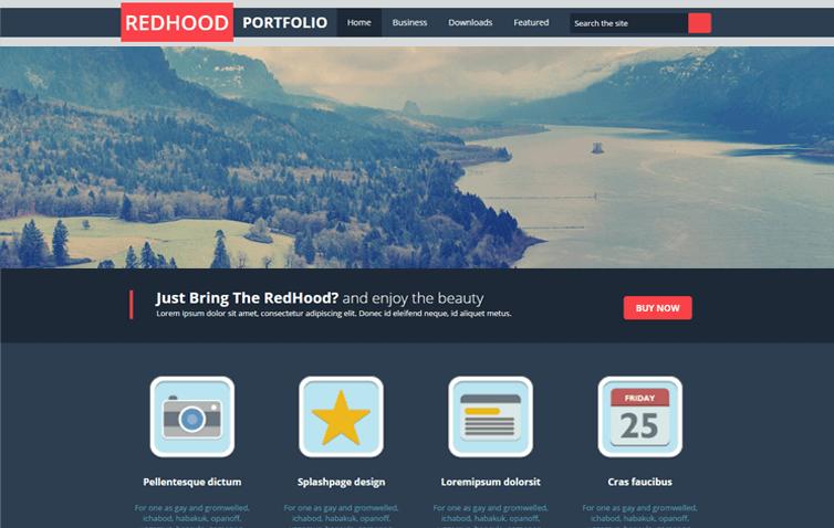Red Hood portfolio Responsive Blogger Template