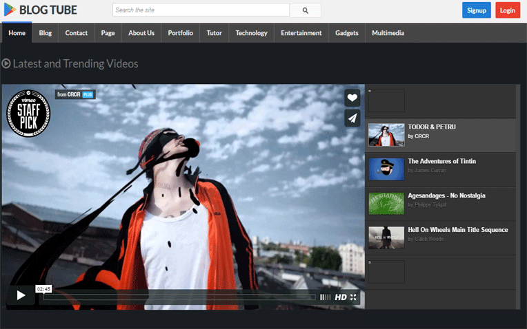 BlogTube Video Sharing Blogger Template