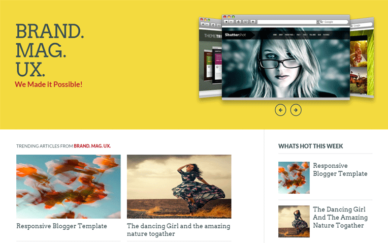 Brand Mag UX technologies Blogger Template