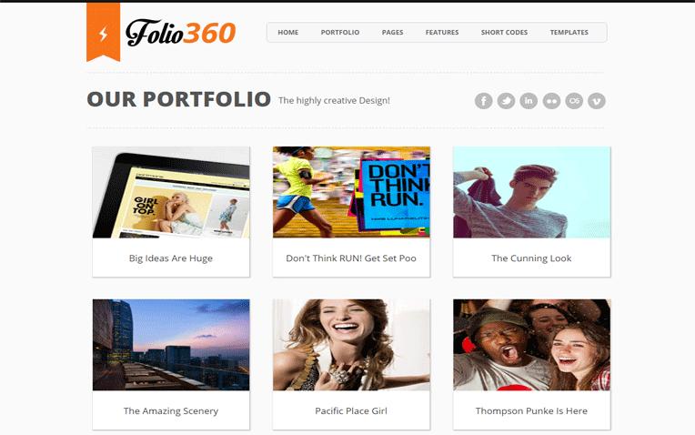 Folio360 Onepage Portfolio Blogger Template