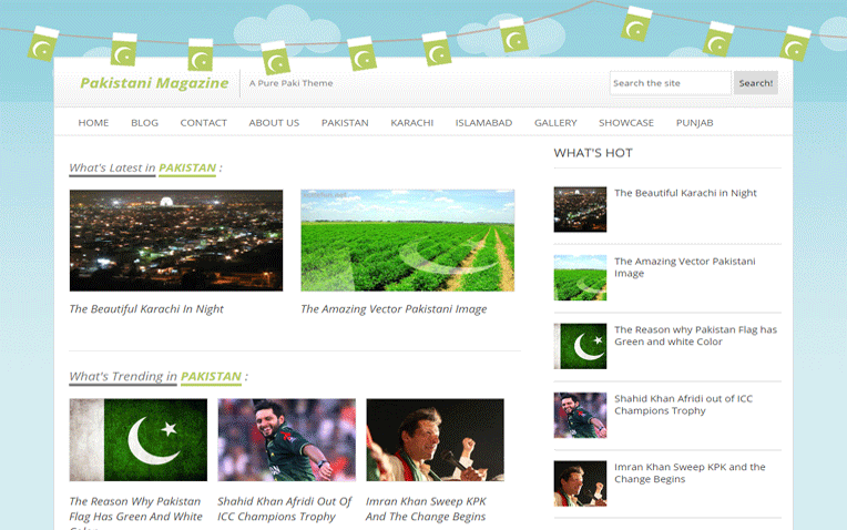 Pakistani Mag Responsive Blogger Template