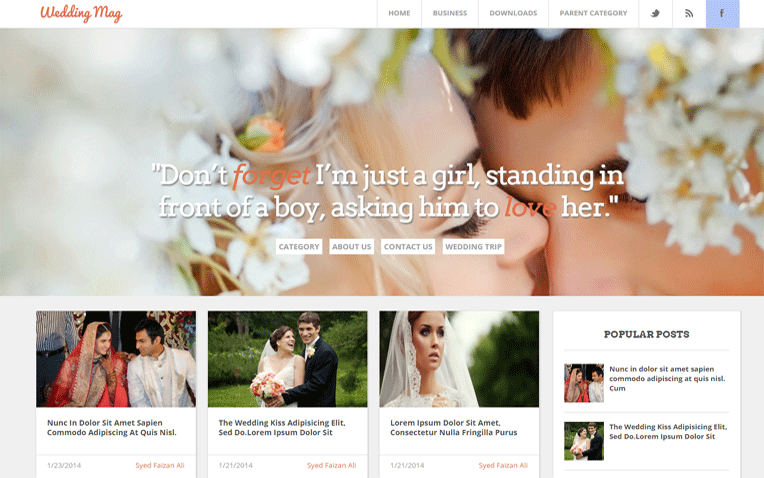 Wedding Mag Marriage Blogger Template