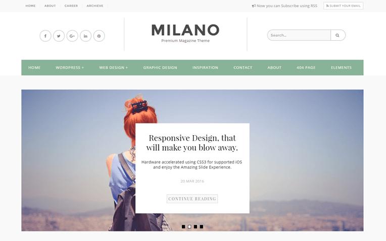 Milano Magazine Responsive Blogger Template