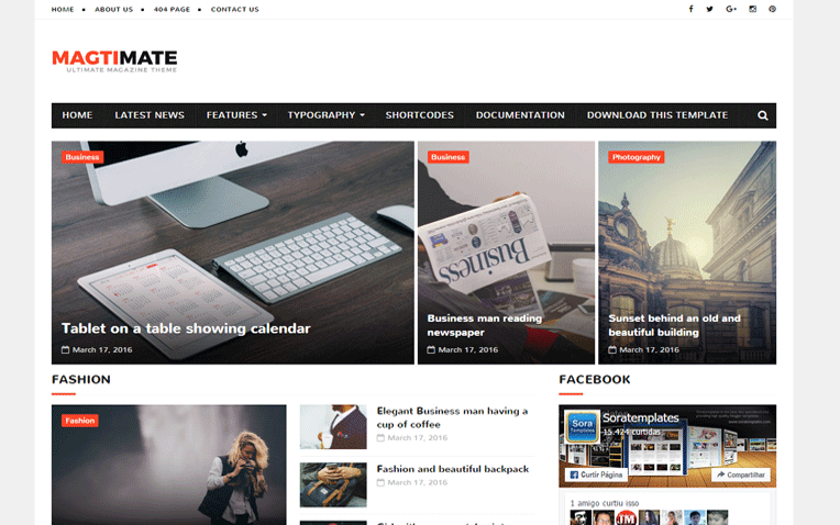 MagtiMate Magazine Responsive Blogger Template