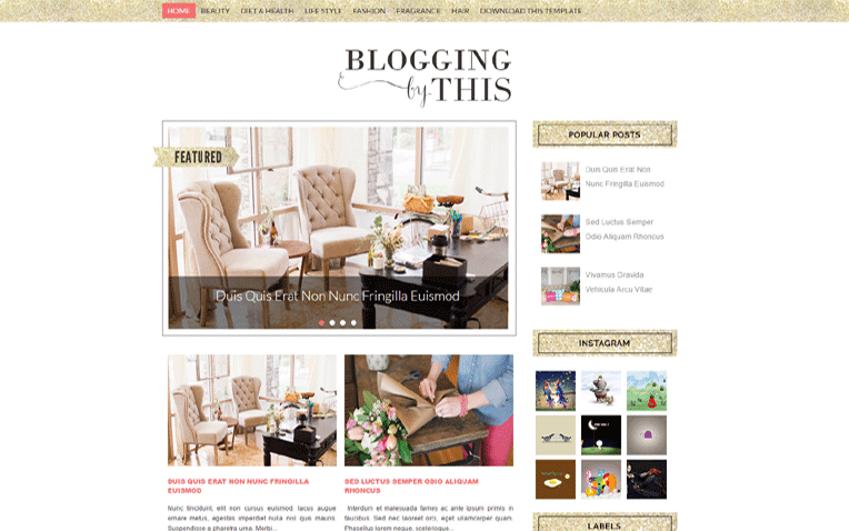 Blogging fashion 2016 Blogger Template