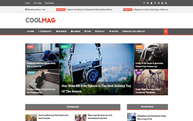 Cool Mag simple easy-to-use Responsive Blogger Template