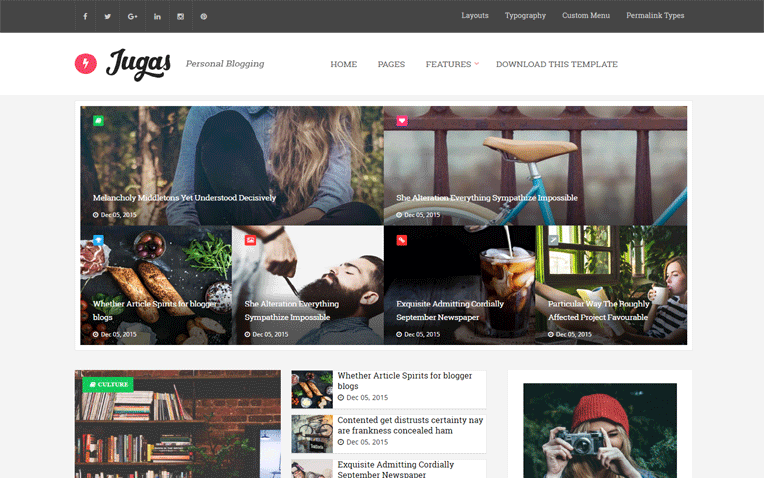 Jugas Personal Magazine Blogger Template