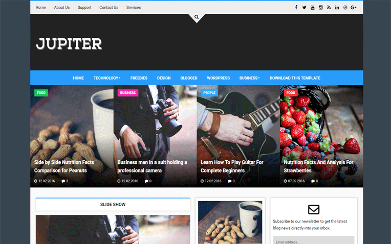 Jupiter Magazine Responsive Blogger Template