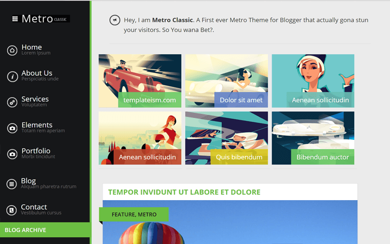 Metro Classic Technology Blogger Template