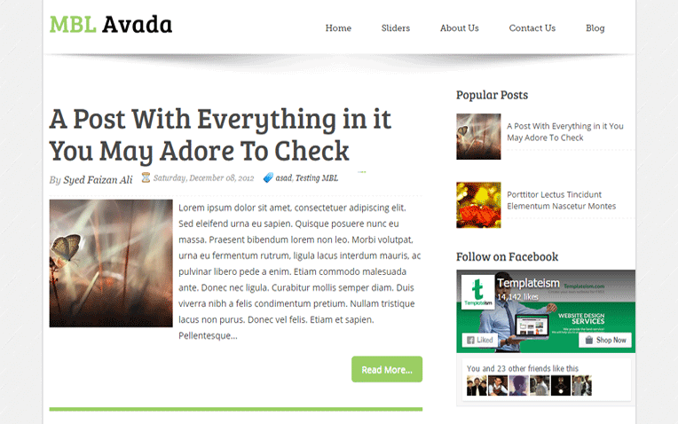 Avada Classic Blog Blogger Template