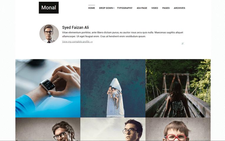 Monal Portfolio Responsive Blogger Template