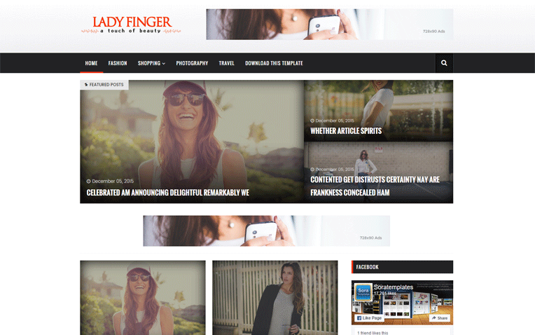 Lady Finger Journalists Professional Blogger Template - Blogger photography templates professional