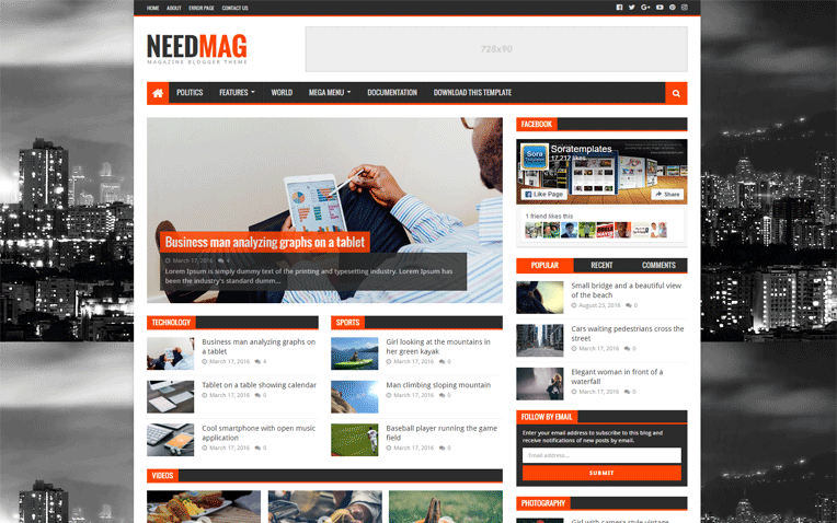 Need Mag Fast loading Magazine Blogger Template