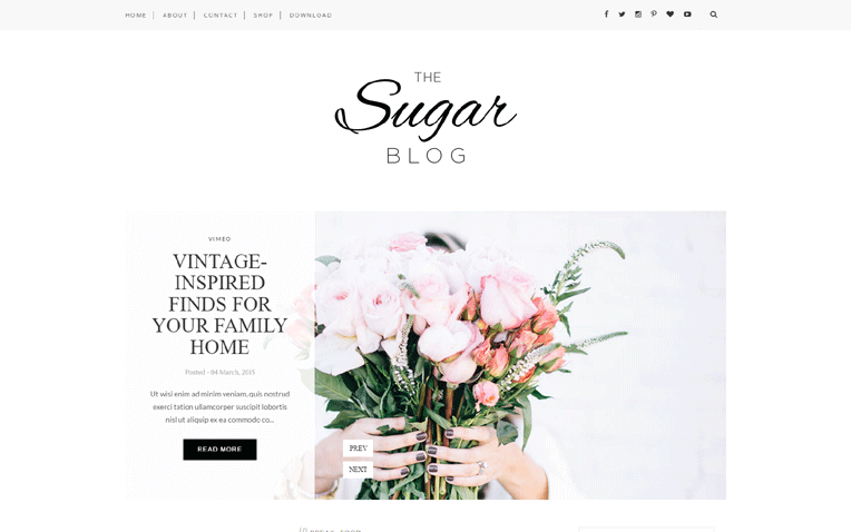 Sugar Pinterest widget Responsive Blogger Template