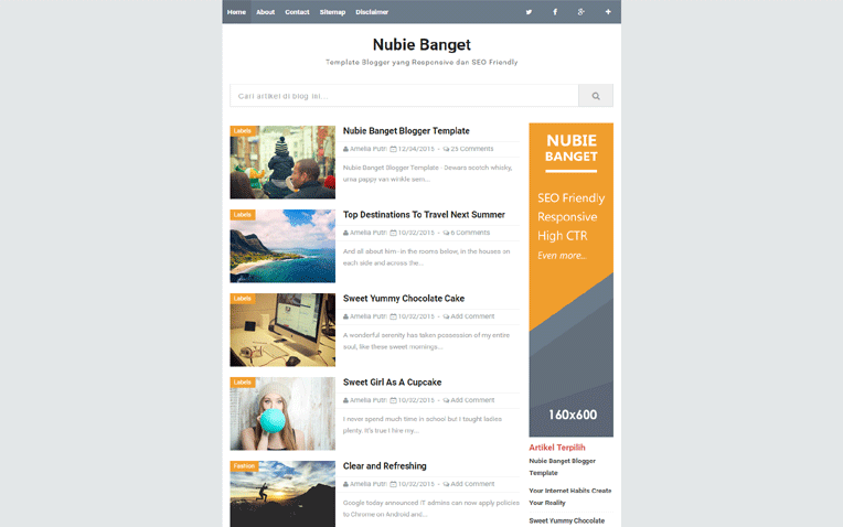 Banget simple responsive blogger template nubie banget simple responsive blogger template pronofoot35fo Images
