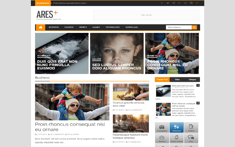 Ares Friendly Amazing Responsive Blogger Template