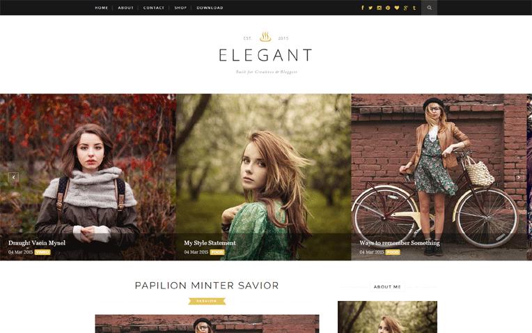 Elegant Beautiful Personal Responsive Blogger Template