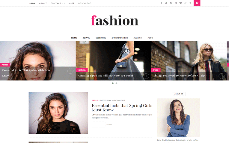 Fashion Beautiful Personal Responsive Blogger Template