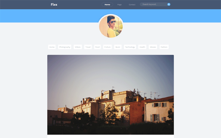Flex Simple Professional Responsive Blogger Template