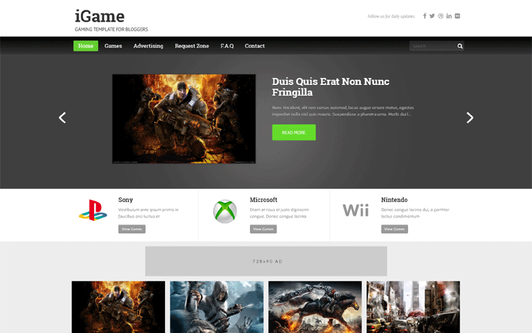 iGame Entertainment Professional Blogger Template