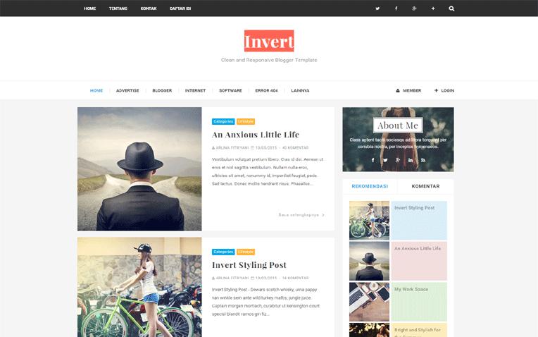Invert Responsive SEO Friendly Blogger Template