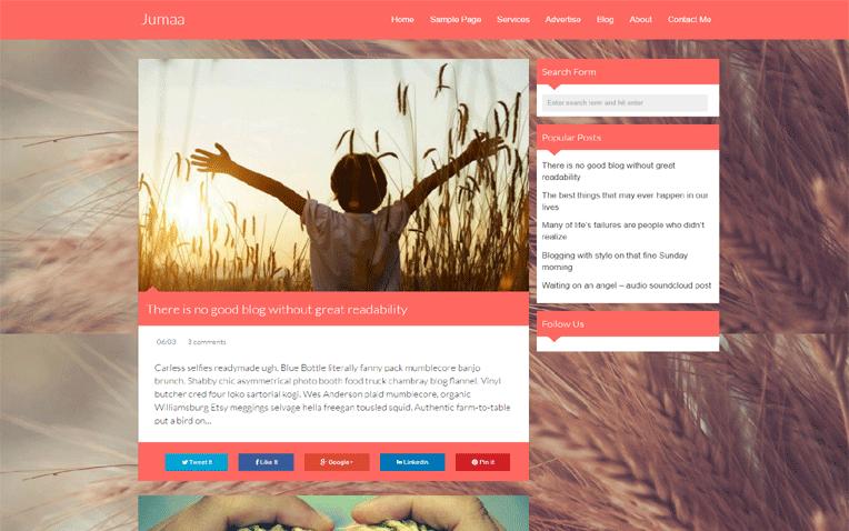 Jumaa Premium Responsive Clean Blogger Template