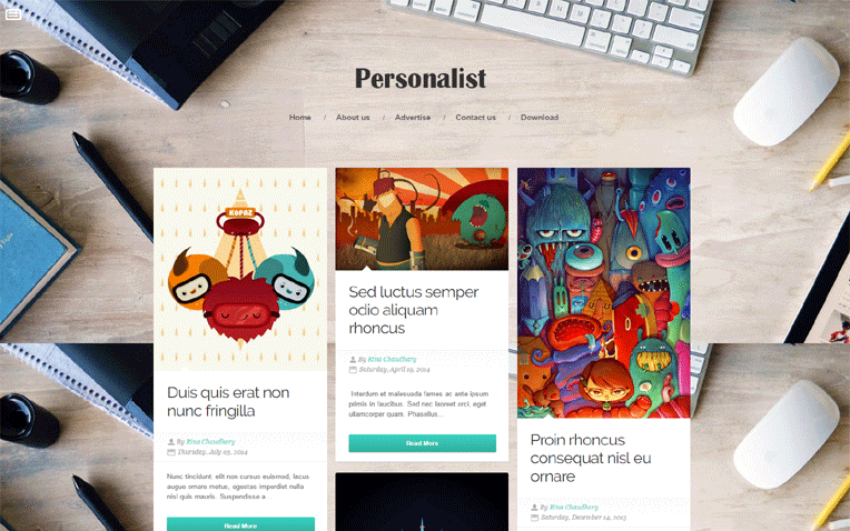 Personalist GridBased Responsive Blogger Template