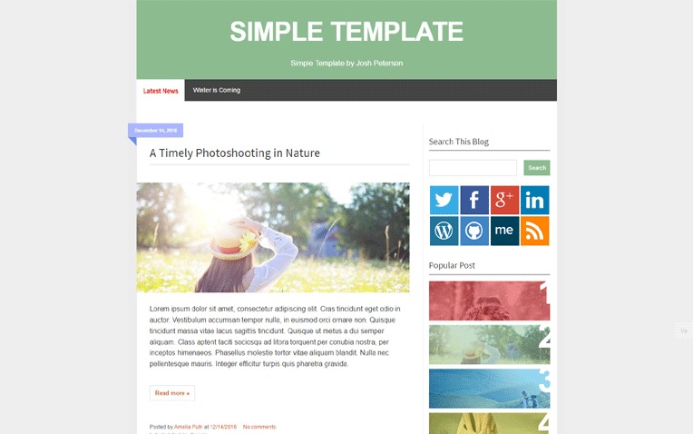 SIMPLE Clean Layout Responsive Blogger Template