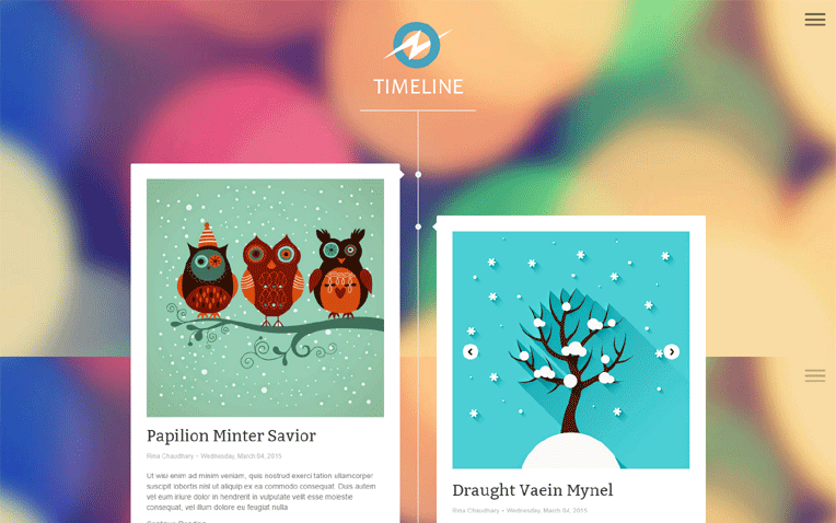 Timeline Revolutionary Responsive Blogger Template
