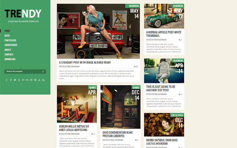 Trendy Creative Clean Responsive Blogger Template