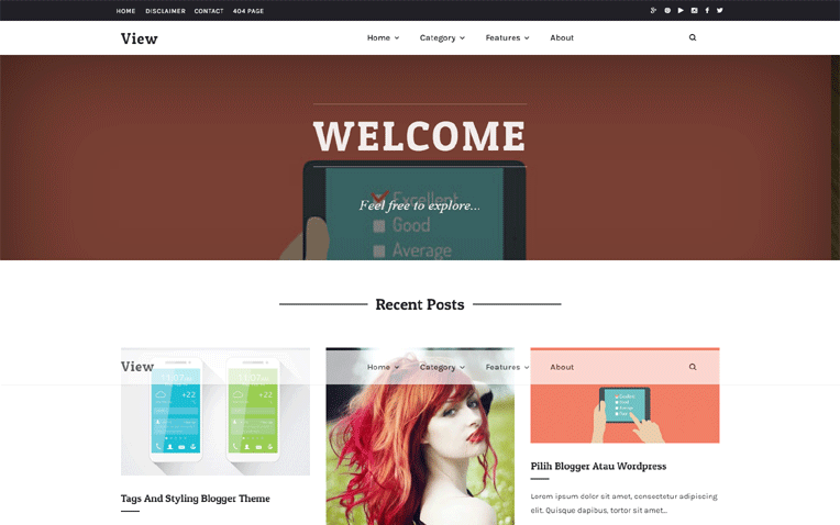 View Personal Clean Responsive Blogger Template