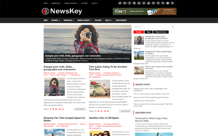 News Key Simple Clean Responsive Blogger Template