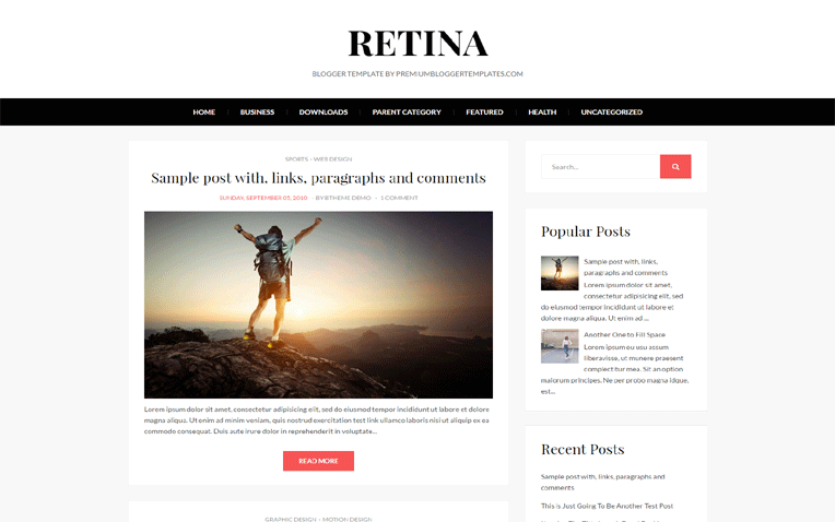 Ratina Simple Magazine Responsive Blogger Template