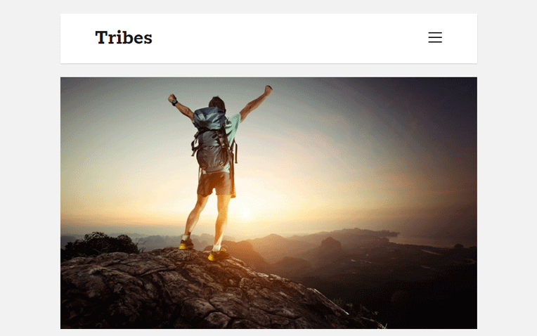 Tribes Minimal Professional Clean Blogger Template