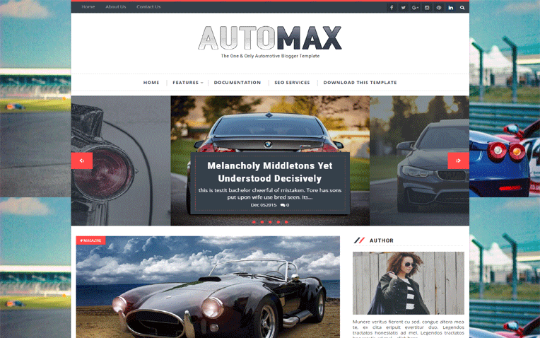 Automax Professional Automotive Blogger Template