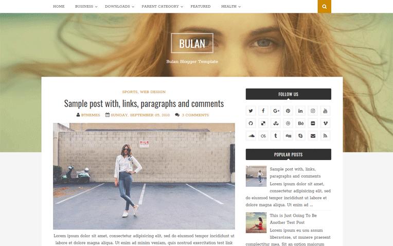 Bulan Simple Clean Responsive Blogger Template