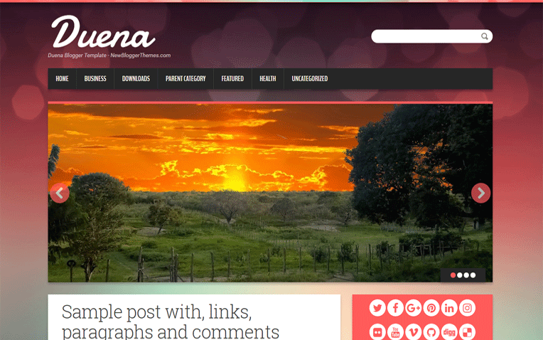 Duena Minimal Magazine Simple Blogger Template