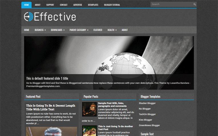 Effective Simple Clean Magazine Blogger Template
