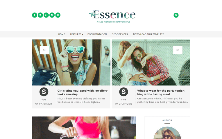 The Essence Minimal Responsive Blogger Template