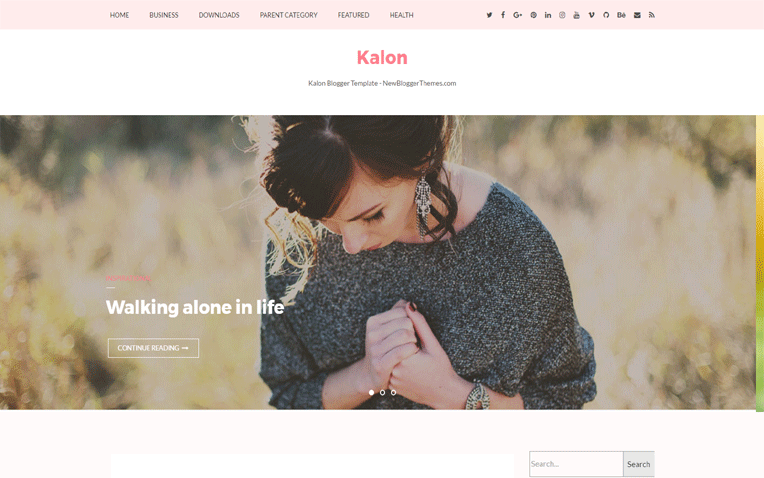 Kalon Amazing Clean Magazine Blogger Template