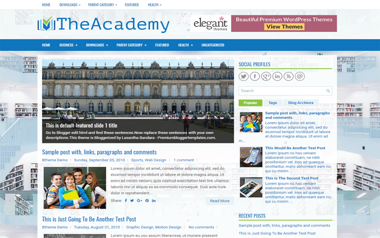 TheAcademy Education Creative Blogger Template