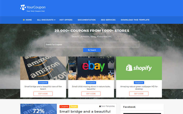 Your Coupon Fashion Responsive Blogger Template