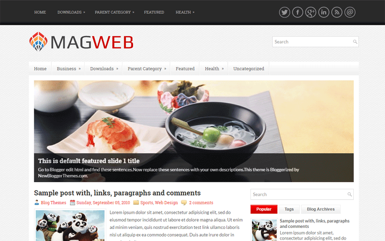 MagWeb Amazing Resoponsive Blogger Template