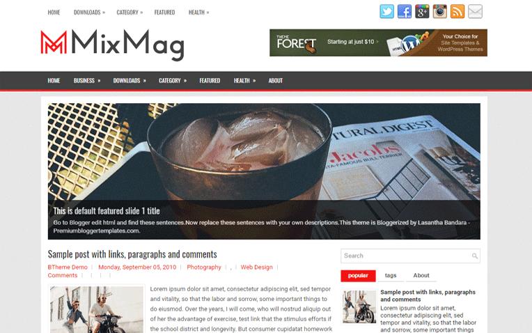 MixMag Premium Magazine Responsive Blogger Template